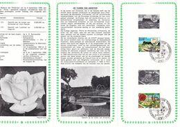 B01-173 BELG.1969 1501 & 1502 FDC Flora Flore Gent 3.5€ - Documents Of Postal Services
