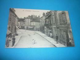 Carte Postale Yonne Auxerre Rue Du Pont Animée Commerces - Auxerre