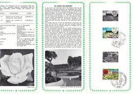 B01-173 BELG.1969 1501 & 1502 FDC Flora Flore Gent Annevoie 3.5€ - Documents Of Postal Services