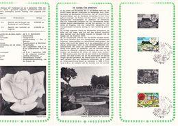 B01-173 BELG.1969 1501 & 1502 FDC Flora Flore Annevoie 3.5€ - Documents Of Postal Services