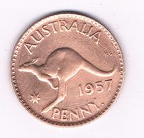 ONE PENNY 1957 AUSTRALIE /6000/ - Monnaie Pré-décimale (1910-1965)