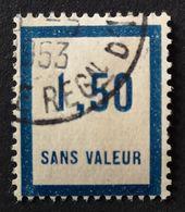 France Fictif N° F39 Oblitéré De 1953 (usage Tardif ?) TTB. Cote 2020 : 1,80 Euros. Voir Photos Recto Et Verso ! - Fictifs