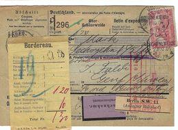 ALLEMAGNE 1904: Bulletin D'Expédition Contre-Remboursement De Ober-Schöneweide Pour Genève, Affranchi à 1,00 Mk. - Germany