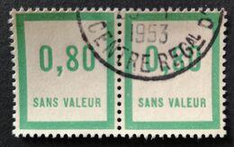 France Superbe Paire Fictif N° F48 Oblitérée De 1953 (usage Tardif ?) TTB. Cote 2020 : 3,60 Euros. Voir Recto/verso - Fictifs