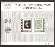 Norway Norge 1990 150 Years Stamps  Mi Bloc 13  MNH(**) - Norwegen