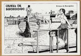 X30048 Charles BERG Gard BOURGIDOU Ecluse Canal CAMARGUE Peniche TONIN 1991 BELLES ECLUSIERES N°51 Tirage 250Ex - Autres Communes