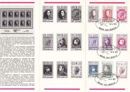 B01-175 BELG.1972 1627-1635 1°dag Stempel Op Zegel In NL Folder Brussel 1020 Bruxelles 10€ - Documents Of Postal Services