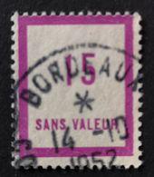 France Très Rare Fictif N° F57 Oblitéré De Bordeaux En 1952, TTB. Cote 2020 : 15 Euros. Voir Recto/verso - Fictifs