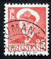 Greenland 1950  König Frederik IX MiNr 32 UMANAK (O) ( Lot D 1031 ) - Groenlandia