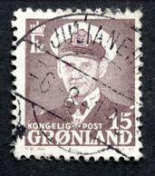 Greenland 1950  König Frederik IX MiNr 31a JULIANEHÅB 6-8-1953 (O) ( Lot D 1034 ) - Gebruikt