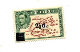 Timbre Roi Carte - Fiji (...-1970)