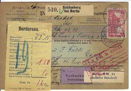 ALLEMAGNE 1904: Bulletin D'Expédition Contre-Remboursement De Schöneberg Pour Genève, Affranchi à 1,25 Mk. - Germany