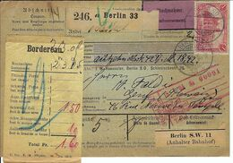 ALLEMAGNE 1904: Bulletin D'Expédition Contre-Remboursement De Berlin Pour Genève, Affranchi à 1,00 Mk. - Germany