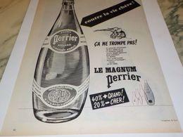 ANCIENNE PUBLICITE CONTRE LA VIE CHERE MAGNUM PERRIER  1959 - Voitures