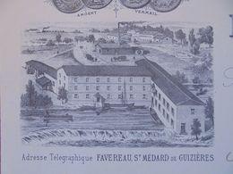 FACTURE - 33 - DEPARTEMENT DE LA GIRONDE - ST MEDARD DE GUIZIERES 1887 - MINOTERIE HONGROISE DE FAPOUYADE : L. FAVEREAU - Non Classificati