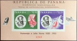 Panama 1966 Jules Verne Minisheet Imperf MNH - Panama
