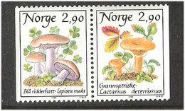 Norway 1988 Mushrooms Pair Mi  990-991, MNH(**) - Norwegen