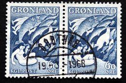 Greenland 1957  Legend.  MiNr.39 GODTHÅB  ( Lot D 2479 ) - Groenlandia