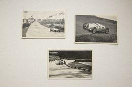 Set Of 3 Auto Union Cigaretten Card - Documentos