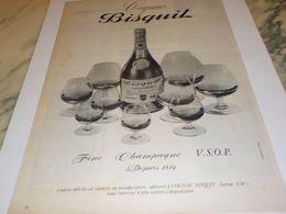 ANCIENNE  PUBLICITE FINE CHAMPAGNE COGNAC   BISQUIT 1959 - Alcohols