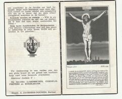 Doodsprentje Joseph Maria Rene Joanna LAMBRECHTS Brouwer Burgemeester Berlaar 1918 - 1963 - Santini