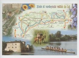 Riche Verdoyante Vallée Du Lot Géographique Multivues, Serres Tomates Tonneins Pruneaux AvironTemple/Lot Livrade - Autres Communes