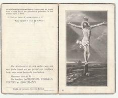 Doodsprentje Jules Fanny Edward LAMBRECHTS Wed. Adelaïde Emilia Peeters Burgemeester Berlaar 1882 - 1959 - Santini