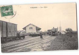 CPA 70 Pesmes La Gare Et Le Train Tramway - Pesmes