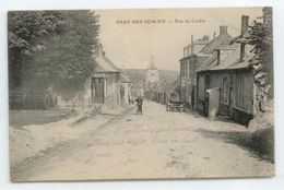 CPA 1915 SOMME BRAY SUR SOMME ANIME RUE DE CORBIE BE - Bray Sur Somme