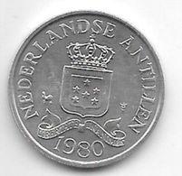*netherlands Antilles 2,5 Cent  1980   Km 9a Unc/ms63 - Antillen (Niederländische)