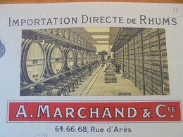 FACTURE - 33 - DEPARTEMENT DE LA GIRONDE - BORDEAUX 1934 - IMPORTATION DE RHUMS : A. MARCHAND & CIE - Non Classificati