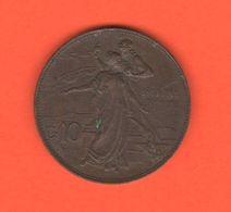 10 Centesimi 1911 Cinquantenario Regno D'Italia Re Vittorio Em. III° - 1861-1946 : Kingdom