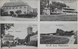 """Iffezheim - Multi Vues - Carte Hotel Zum """"Anker"""" Besistzer A. Kuhn - Deutschland"""