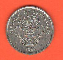 Seychelles One Rupee 1992 Rupia - Seychelles