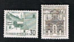 CECOSLOVACCHIA (CZECHOSLOVAKIA) -  SG 1504.1505 - 1965  PRAGUE CASTLE (COMPLET SET OF 2)         -  MINT** - Czechoslovakia