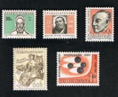 CECOSLOVACCHIA (CZECHOSLOVAKIA) -  SG 1512.1516 - 1965  ANNIVERSARIES & EVENTS (COMPLET SET OF 5)         -  MINT** - Czechoslovakia