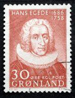 Greenland 1958 Hans Egede Missionær. Minr.42 ( Lot D 2505 ) - Used Stamps