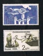 CECOSLOVACCHIA (CZECHOSLOVAKIA) -  SG 1517.1518 - 1965  FLOOD RELIEF  (COMPLET SET OF 2)         -  MINT** - Czechoslovakia