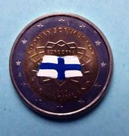 FINLANDE 2007 - TRAITE DE ROME -  2 EUROS COMMEMORATIVE  -  VERSION COULEUR - Finlandia