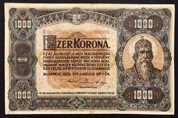 UNGHERIA Hungary 1000 Korona 1920 KM#66  LOTTO 1508 - Hungary