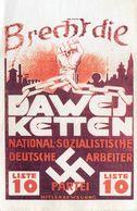 DC2824 - Militaria Germany WW2 Propaganda - NSDAP Arbeiter Liste 10 Parte Wahlwerbung REPRO - Guerre 1939-45