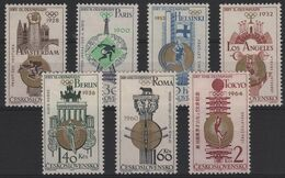 JO64/E28 - TCHECOSLOVAQUIE N° 1388/94 Neufs** Jeux Olympiques De Tokyo 1964 - Czechoslovakia