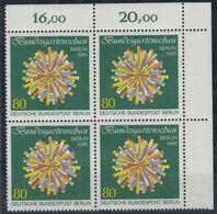 BERLIN 734,  4erBlock Eckrand Oben Rechts, Postfrisch **, BUGA 1985 - Ungebraucht