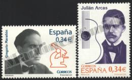 Spain - Espagne 2010 Yvert 4219-20, Julián Arcas & Gregorio Marañón - MNH - 1931-Heute: 2. Rep. - ... Juan Carlos I