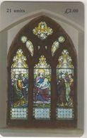 ISLE OF MAN - Stain Glass Window, Tirage 10.000, Used - Man (Isle Of)