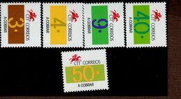 Portugal Portomarken Ziffern 95 - 99 MNH ** Neuf - Ongebruikt