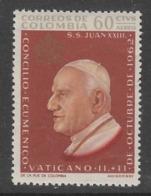 TIMBRE NEUF DE COLOMBIE - CONCILE OEUCUMENIQUE DU VATICAN : SA SAINTETE JEAN XXIII N° Y&T PA 429 - Popes