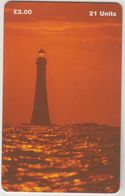 ISLE OF MAN - Lighthouse Chicken Rock , Tirage 20.000, Used - Man (Isle Of)