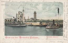 "Germany - Gruss Aus Dem Nordseebad Cuxhaven - Alte Liebe "" Scenerie "" - Ship - Litho - Cuxhaven"