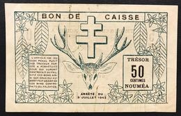 NOUVELLE CALEDONIE NEW CALEDONIA 50 Centimes NOUMEA 1942 WWII Pick#51 Lotto.1543 - Frankrijk